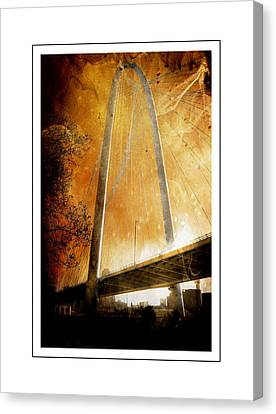 Margaret Hunt Hill Bridge Dallas Texas Canvas Print