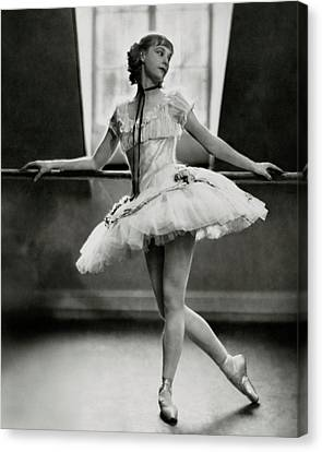 Tutu Canvas Print - Margaret Petit At The Barre by Nickolas Muray