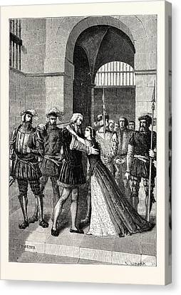 Margaret Roper Meets Her Father After His Condemnation Canvas Print