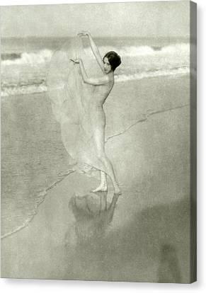 Margaret Severn On A Beach Canvas Print