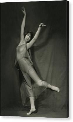 Margaret Severn Posing Canvas Print by Alexander Milne