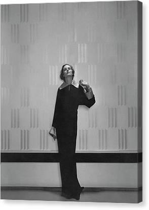 Shea Canvas Print - Margaret Shea Johnson Wearing A Wool Dress by Edward Steichen