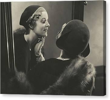 Shea Canvas Print - Margaret Shea Wearing A Bicorne Hat by Edward Steichen
