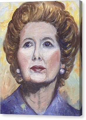 Margaret Thatcher Two Canvas Print by Linda Mears