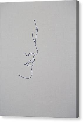 Girl Profile Canvas Print - Margarita Fifty Six by Vernon Holt