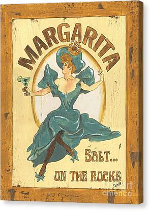 Margarita Salt On The Rocks Canvas Print by Debbie DeWitt
