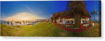 Margarita Time At The Beachcomber 360 Panorama Canvas Print by Scott Campbell