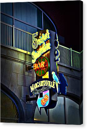 Margaritaville Canvas Print by Bill Cannon