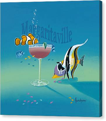 Margaritaville Canvas Print by Kenneth F Aunchman