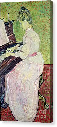 Piano Canvas Print - Marguerite Gachet At The Piano by Vincent Van Gogh