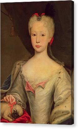 Maria Barbara De Braganza Canvas Print by Domenico Dupra