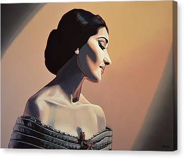 Maria Callas Painting Canvas Print by Paul Meijering