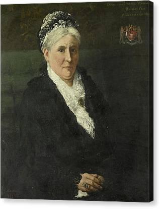 Maria Hermina Heemskerk 1827-1908 Canvas Print