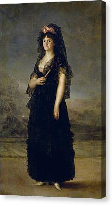Maria Luisa De Borbon-parma Canvas Print by Francisco Goya