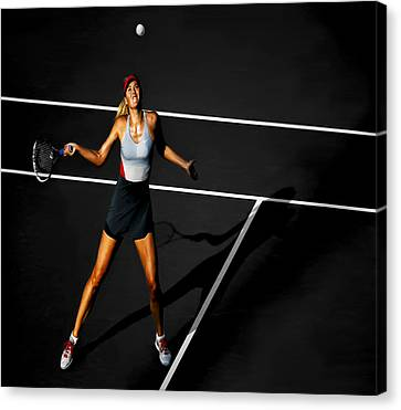 Maria Sharapova Canvas Print by Brian Reaves