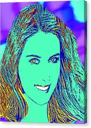 Maria Sharapova Canvas Print - Maria Sharapova Golden by Dalon Ryan