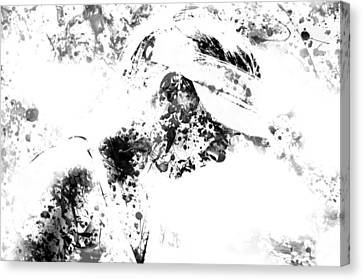 Maria Sharapova Paint Splatter 4g Canvas Print by Brian Reaves