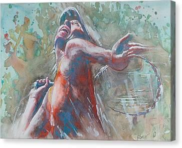 Maria Sharapova Canvas Print - Maria Sharapova - Portrait 2 by Baris Kibar