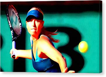 Maria Sharapova Tennis Canvas Print by Lanjee Chee