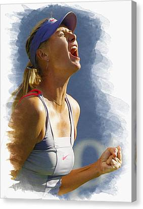 Maria Sharapova - Us Open 2011 Canvas Print by Don Kuing