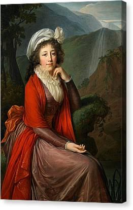Maria Theresia Bucquoi Canvas Print by Elisabeth Louise Vigee Lebrun
