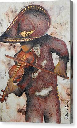Mariachi I Canvas Print by J- J- Espinoza