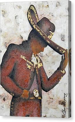 Mariachi  II Canvas Print by J- J- Espinoza