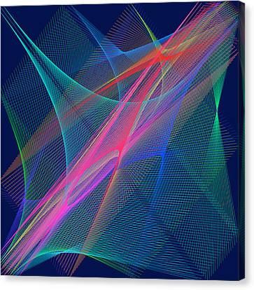 Canvas Print featuring the digital art Mariage by Karo Evans
