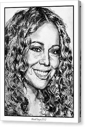 Mariah Carey In 2012 Canvas Print by J McCombie