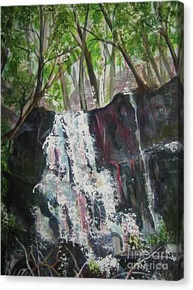 Mariah's Falls Canvas Print by Ellen Levinson