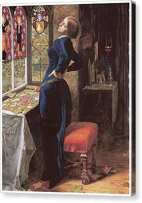 Mariana Canvas Print by John Everett Millais