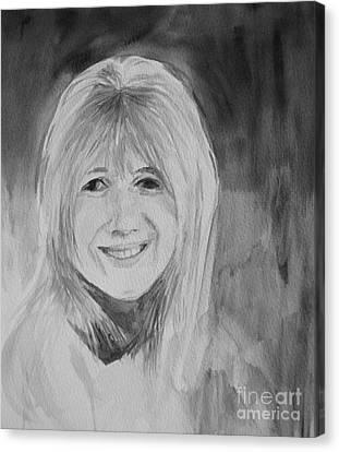 Marianne Faithfull Canvas Print by Martin Howard