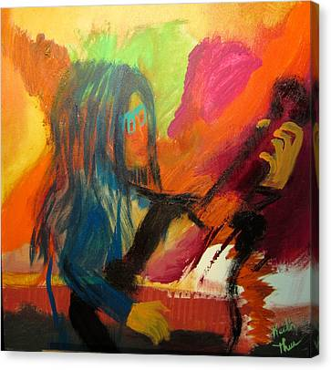 Canvas Print featuring the painting Marianne by Keith Thue