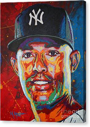 Mariano Rivera Canvas Print by Maria Arango