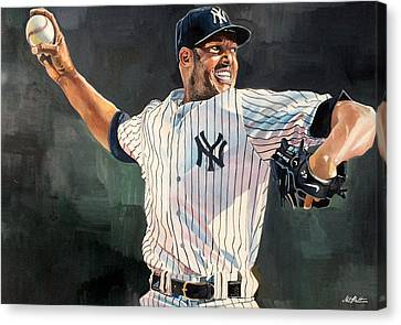 Gehrig Canvas Print - Mariano Rivera - New York Yankees by Michael  Pattison