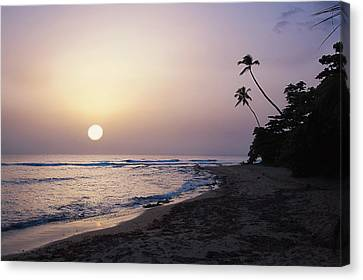 Puerto Rico Canvas Print - Marias Beach Sunset Rincon Puerto Rico by George Oze