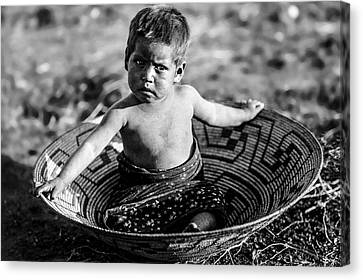 Maricopa Child Circa 1907 Canvas Print by Aged Pixel