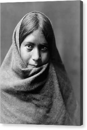 Indigenous Canvas Print - Maricopa Indian Woman Circa 1907 by Aged Pixel