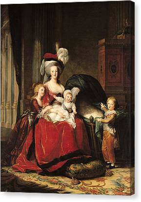 Marie Antoinette And Her Children Canvas Print