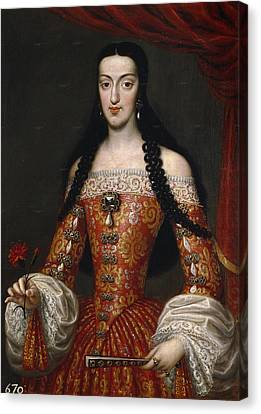 Marie-louise Canvas Print - Marie-louise Of Orleans. Queen Of Spain by Jose Garcia Hidalgo