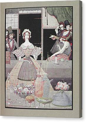 Marie Roget Canvas Print by British Library