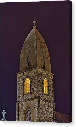 Marienkirche At Night Canvas Print by Gary Holmes