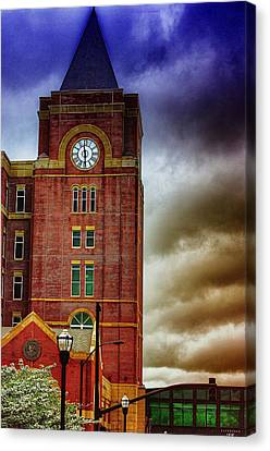 Canvas Print featuring the photograph Marietta Clock Tower by Dennis Baswell