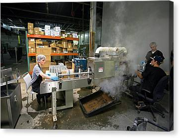 Marijuana Products Factory Canvas Print by Jim West