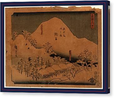 Mariko, Ando Between 1848 And 1854, 1 Print  Woodcut Canvas Print by Utagawa Hiroshige Also And? Hiroshige (1797-1858), Japanese