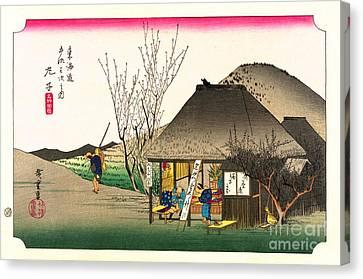 Mariko Station Tokaido Road 1833 Canvas Print