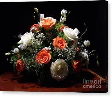 Marilena's Wedding Flowers 2 Canvas Print by Kathleen Pio