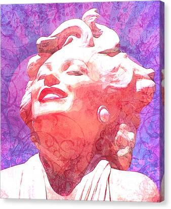 Fuschia Canvas Print - Marilyn 20 by Tammera Malicki-Wong