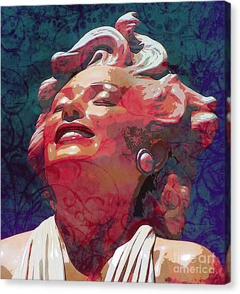 Fuschia Canvas Print - Marilyn 24 by Tammera Malicki-Wong