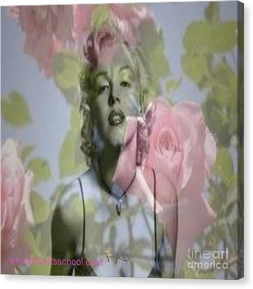 Marilyn And The Big Screen Canvas Print